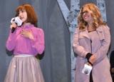 ディズニー映画最新作『アナと雪の女王2』のスペシャルイベントに出席した(左から)神田沙也加、ジェニファー・リー監督 (C)ORICON NewS inc.