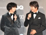 『GQ MEN OF THE YEAR 2019』(左から)賀来賢人、草刈正雄