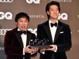 『GQ MEN OF THE YEAR 2019』で『コメディ・オブ・ザ・イヤー』を受賞した霜降り明星(左から)せいや、粗品 (C)ORICON NewS inc.