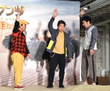 映画『ジュマンジ/ネクスト・レベル』の公開記念イベントに出席したダチョウ倶楽部(左から)上島竜兵、寺門ジモン、肥後克広 (C)ORICON NewS inc.