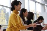 カレンダー発売記念イベントに登壇したテレビ朝日のアナウンサー(左から)下村彩里、住田紗里、久冨慶子、田中萌(C)テレビ朝日