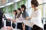 カレンダー発売記念イベントに登壇したテレビ朝日のアナウンサー(左から)林美桜、住田紗里、森川夕貴、本間智恵(C)テレビ朝日