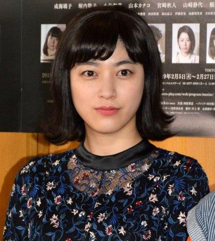 音楽劇『マニアック』の公開ゲネプロ後囲み取材に出席した成海璃子 (C)ORICON NewS inc.