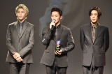 『WEIBO Account Festival in Japan 2019』の授賞式に登壇したSnow Man(左から)ラウール、岩本照、目黒蓮 (C)ORICON NewS inc.