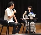 withnews5周年記念イベントに出席した(左から)奥山晶二郎編集長、のん (C)ORICON NewS inc.
