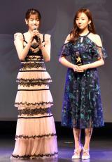 『WEIBO Account Festival in Japan 2019』の授賞式に登壇した乃木坂46(左から)松村沙友理、新内眞衣 (C)ORICON NewS inc.