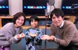 『金曜ロードSHOW!』で放送される『ホーム・アローン3』で吹き替えを担当する(左から)徳島えりかアナ、寺田心、桝太一アナ(C)日本テレビ
