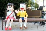 ダイバーシティ東京プラザ正面入口前に設置された『ドラえもん タイムスクエア』 (C)ORICON NewS inc.