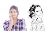 【カンナ】漫画『きみとゆめみる羊』キャラクターと821の対比写真 (C)中原幸 (C)柚木ウタノ/集英社