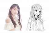 【レイア】漫画『きみとゆめみる羊』キャラクターと821の対比写真(C)中原幸 (C)柚木ウタノ/集英社