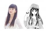 【リコ】漫画『きみとゆめみる羊』キャラクターと821の対比写真 (C)中原幸 (C)柚木ウタノ/集英社