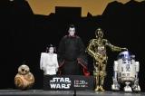 (左から)BB-8、堀越勸玄、市川海老蔵、C-3PO、R2-D2(C)2019 ILM and Lucasfilm Ltd. All Rights Reserved.