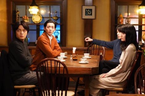 『同期のサクラ』第8話から岡山天音、竜星涼、新田真剣佑、橋本愛(C)日本テレビ