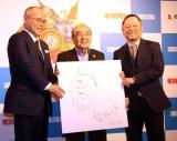 40周年記念『キン肉マン』関連本3冊同時発売発表会に出席した(左から)中井義則、中野和雄氏、嶋田隆司 (C)ORICON NewS inc.