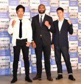 フジテレビ系『The 世界力4』収録後会見に出席した(左から)大沢たかお、リーチ・マイケル、錦織圭 (C)ORICON NewS inc.