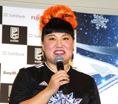 『B.LEAGUE ALL-STAR GAME 2020 IN HOKKAIDO』出場選手発表記者会見に登場したバービー (C)ORICON NewS inc.