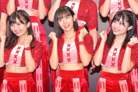 初単独ライブを行ったBEYOOOOONDS(左から)島倉りか、山崎夢羽、西田汐里 (C)ORICON NewS inc.