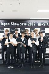 3月に日本デビューが決まったStray Kids(前列左から)ハン、バンチャン、フィリックス、ヒョンジン (後列左から)チャンビン、アイエン、リノ、スンミン 撮影:田中聖太郎写真事務所