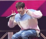 """チャームポイントの笑顔を見せるバンチャン=『Stray Kids Japan Showcase 2019 """"Hi-STAY""""』より (C)ORICON NewS inc."""