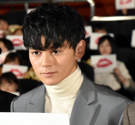 映画『午前0時、キスしに来てよ』先行上映舞台あいさつに登壇した眞栄田郷敦 (C)ORICON NewS inc.