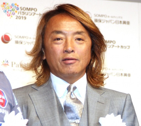 『SOMPOパラリンアートカップ2019』の表彰式に参加した北澤豪 (C)ORICON NewS inc.
