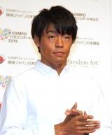 『SOMPOパラリンアートカップ2019』の表彰式に参加した羽根田卓也 (C)ORICON NewS inc.
