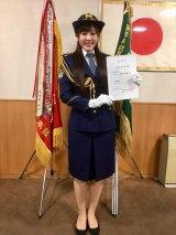 科捜研の白衣ではなく、女性警察官の制服姿を披露(C)テレビ朝日