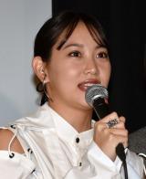 映画『ゴーストマスター』公開記念舞台あいさつに出席した永尾まりや (C)ORICON NewS inc.
