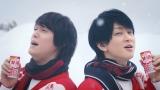 16日から放映される『甘酒』CM冬バージョン『甘酒 bros.冬』篇に出演する関ジャニ∞の丸山隆平と横山裕
