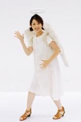 松丸友紀アナウンサーは『ゴッドタン』の天使の衣装で登場(C)テレビ東京