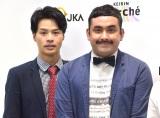 競輪の魅力を伝えるユニット「けいマルガールズ」発表会に出席したデニス(左から)松下宣夫、植野行雄 (C)ORICON NewS inc.