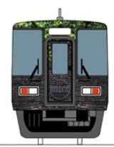 特急「HYDE サザン」車両先頭デザイン (難波側)