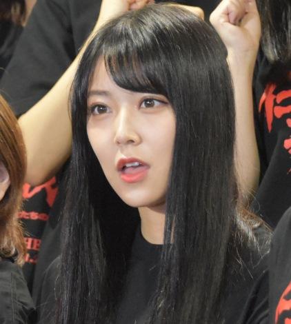 AKB48グループ特別公演 第一部『仁義なき戦い〜彼女(おんな)たちの死闘篇〜』公開けいこに参加した白間美瑠 (C)ORICON NewS inc.