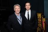 映画『スター・ウォーズ/スカイウォーカーの夜明け』(12月20日公開)米ハリウッドで開催されたワールドプレミアに来場したハリソン・フォードとアダム・ドライバー(C)2019 Getty Images