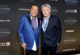 ビリー・ディー・ウィリアムズとハリソン・フォード=映画『スター・ウォーズ/スカイウォーカーの夜明け』(12月20日公開)米ハリウッドで開催されたワールドプレミア(C)2019 Getty Images