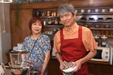 新日曜ドラマ『シロでもクロでもない世界で、パンダは笑う。』に出演する椿鬼奴と升毅 (C)読売テレビ