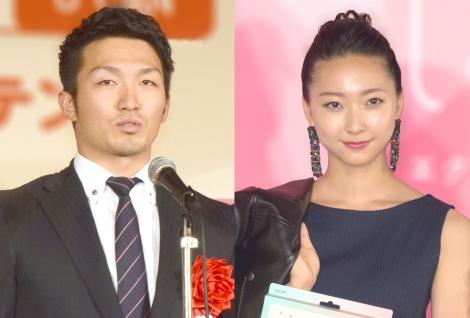 (左から)鈴木誠也選手、畠山愛理 (C)ORICON NewS inc.