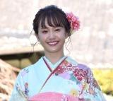 オスカープロモーション『晴れ着撮影会』に出席した尾碕真花 (C)ORICON NewS inc.