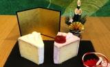 同日発売の『紅白シフォンケーキ』、写真左から『クリームシフォンケーキ』『ストロベリーシフォンケーキ』(各税抜390円) (C)oricon ME inc.
