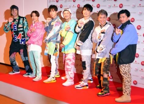 『第70回NHK紅白歌合戦』のリハーサルに参加したDA PUMP(左から)TOMO、DAICHI、YORI、ISSA、KENZO、KIMI、U-YEAH (C)ORICON NewS inc.