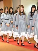 『第70回NHK紅白歌合戦』の囲み取材に参加した日向坂46 (C)ORICON NewS inc.