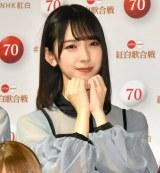 『第70回NHK紅白歌合戦』の囲み取材に参加した日向坂46・金村美玖 (C)ORICON NewS inc.