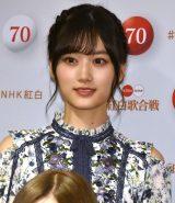 『第70回NHK紅白歌合戦』の囲み取材に参加した山下美月 (C)ORICON NewS inc.