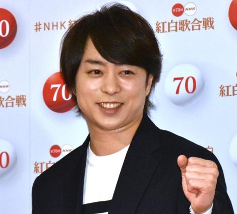 『第70回NHK紅白歌合戦』の囲み取材に参加した櫻井翔 (C)ORICON NewS inc.