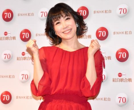 『第70回NHK紅白歌合戦』囲み取材に出席した水森かおり (C)ORICON NewS inc.