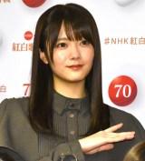 『第70回NHK紅白歌合戦』の囲み取材に参加した田村保乃 (C)ORICON NewS inc.