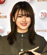 『第70回NHK紅白歌合戦』の囲み取材に参加した守屋茜 (C)ORICON NewS inc.