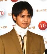 『第70回NHK紅白歌合戦』の囲み取材に参加した片寄涼太 (C)ORICON NewS inc.