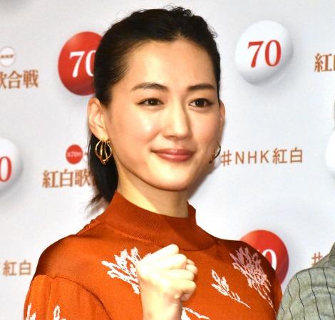 『第70回NHK紅白歌合戦』で司会を務める綾瀬はるか (C)ORICON NewS inc.