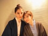 新木優子&田中みな実の温泉浴衣姿(写真は公式ブログより)